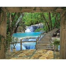 View Waterfall Wall Mural