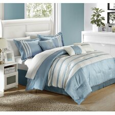 Torino Pleated Piecing 7 Piece Comforter Set