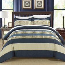 Pleated applique Park Lane Duvet Set