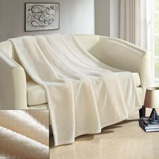 Dijon Ultra Plush Micro Mink Waffle Textured Decorative Throw Blanket