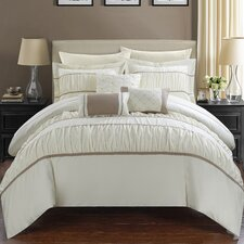 Cheryl Pleated and Ruffled 10 Piece Bed in a Bag Set