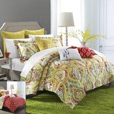 Paisley Global Inspired Mumbai Reversible Comforter Set