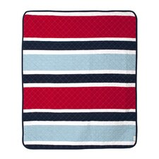 Connor Navy Deck Stripe Crib Quilt