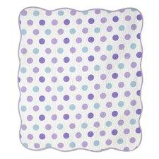 Violet Lavender Jumbo Dot Crib Quilt
