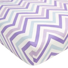 Violet Chevron Fitted Crib Sheet