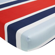 Connor Deck Stripe Fitted Crib Sheet