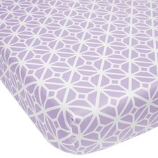 Violet Trellis Fitted Crib Sheet