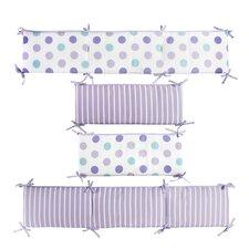 Violet Lavender Stripe and Dot Reversible Bumper