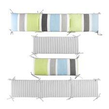 Julian Deck and Candy Stripe Reversible Crib Bumper