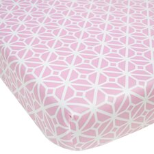 Audrey Trellis Fitted Crib Sheet
