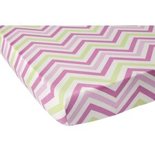 Audrey Chevron Fitted Crib Sheet