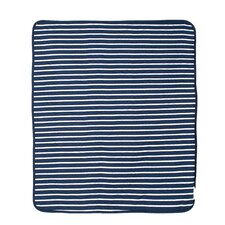 Connor Navy Trellis and Candy Stripe Crib Quilt