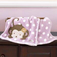 Jacana Appliqued Boa Blanket