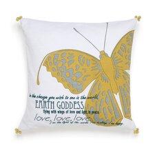 Metamorphosis Earth Goddess Decorative Cotton Throw Pillow
