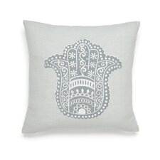 Metamorphosis Hamsa Happiness Cotton Throw Pillow