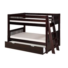 Camaflexi Low Bunk Bed Lateral Angle Ladder with Twin Trundle