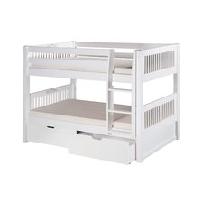 Camaflexi Low Bunk Bed with Drawers and Mission Headboard