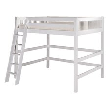 Full High Loft Bed with Mission Headboard