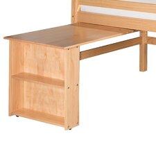 Low Loft Bed Retractable Desk