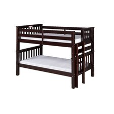 Santa Fe Mission Twin Over Twin Low Bunk Bed with Bed End Ladder