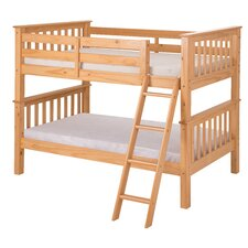 Santa Fe Mission Twin Over Twin Low Bunk Bed with Angle Ladder