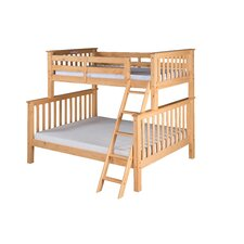 Santa Fe Mission Twin Over Full Tall Bunk Bed with Angle Ladder