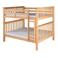 Santa Fe Mission Tall Bunk Bed with Attached Ladder