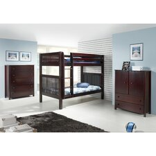 Storage Full Standard Bunk Bed Customizable Bedroom Set