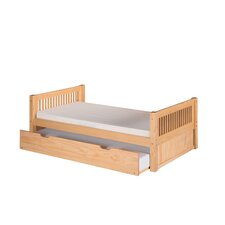 Platform Bed with Twin Trundle and Mission Headboard
