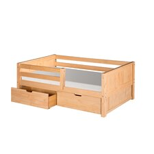 Panel Day Bed with Front Guard Rail and Drawers