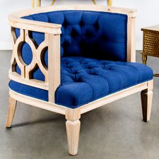 Navy Lilly Accent Chair