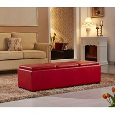 Contemporary Three Seat Bench with Storage