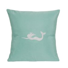 Mermaid Indoor/Outdoor Sunbrella Throw Pillow