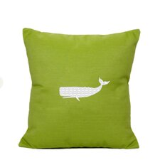 Whale Indoor/Outdoor Sunbrella Throw Pillow