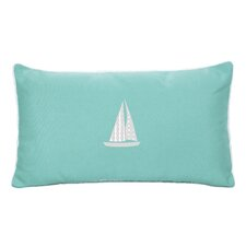 Sailboat Beach Outdoor Sunbrella Lumbar Pillow