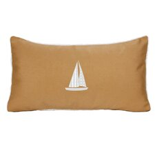 Sailboat Indoor/Outdoor Sunbrella Throw Pillow