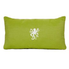 Octopus Beach Outdoor Sunbrella Lumbar Pillow