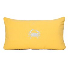 Crab Indoor/Outdoor Sunbrella Throw Pillow