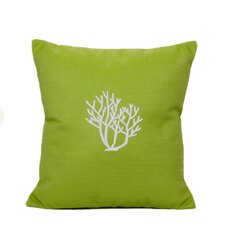 Coral Indoor/Outdoor Sunbrella Throw Pillow
