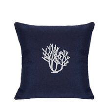 Coral Indoor/Outdoor Sunbrella Throw Pillow