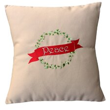 Holiday Peace Indoor/Outdoor Sunbrella Throw Pillow