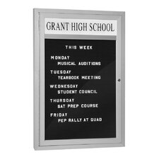 Marquee Wall Mounted Letter Board, 3' H x 2' W