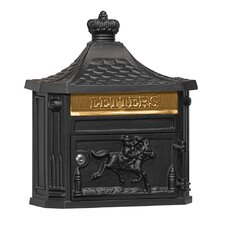 Wall Mounted Mailbox with Rain Overhang