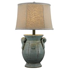 "St. Tropez 24"" H Table Lamp with Oval Shade"