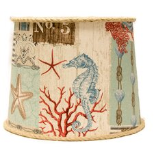 "10"" Nautical Patchwork Drum Lamp Shade"