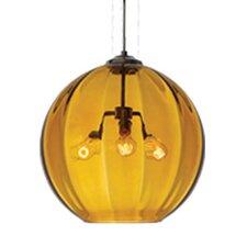 World 3 Light Globe Pendant