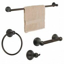 Bay Hill 4 Piece Bathroom Hardware Set