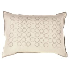 Bamboo Leaves Embroidery Cotton Lumbar Pillow