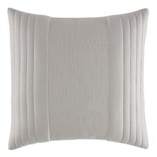 Bamboo Leaves Linear Quilted Cotton Throw Pillow