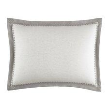 Bamboo Leaves Eyelet Edge Cotton Breakfast Pillow